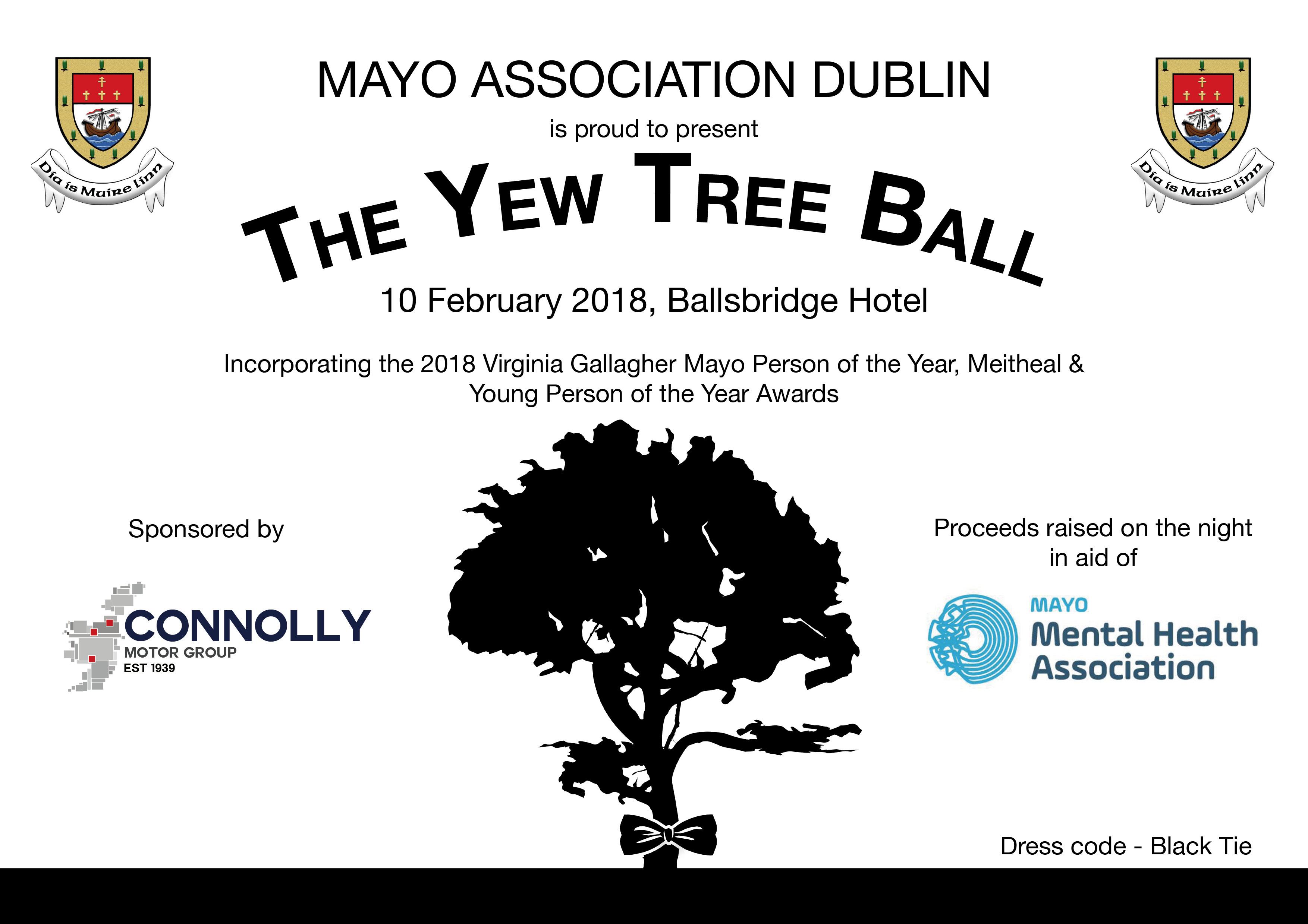 MAD Yew Tree Ball - Mayo Association of Dublin