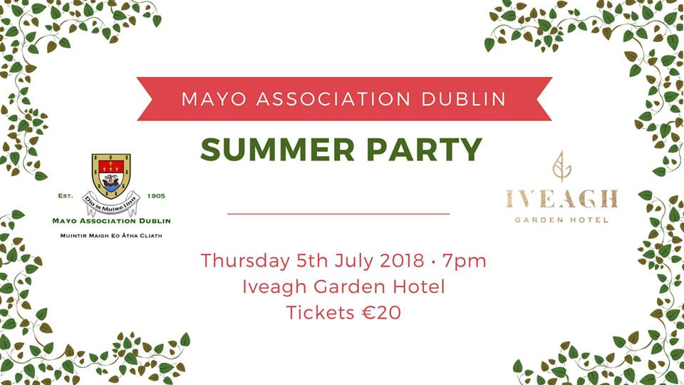 Summer Party In A Secret Garden Mayo Association Of Dublin