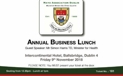 ANNUAL BUSINESS LUNCH IS A SELL OUT!