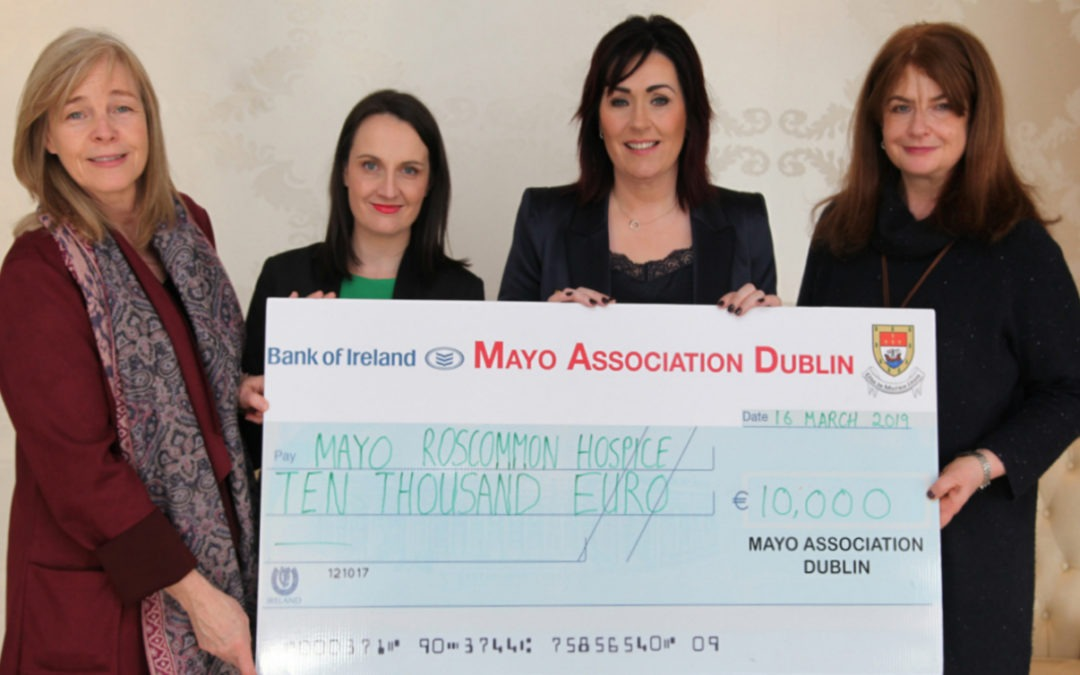 €10,000 PRESENTED TO MAYO ROSCOMMON HOSPICE