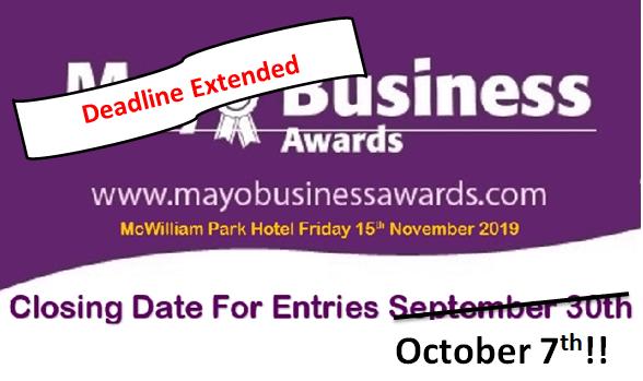 DEADLINE EXTENDED FOR MAYO BUSINESS AWARDS 2019