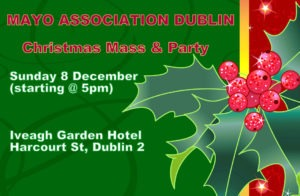 Christmas Mass And Party 2019 @ Iveagh Garden Hotel | County Dublin | Ireland