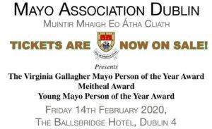 Mayo Association Dublin's Annual Awards 2020 @ The Ballsbridge Hotel | Dublin | County Dublin | Ireland