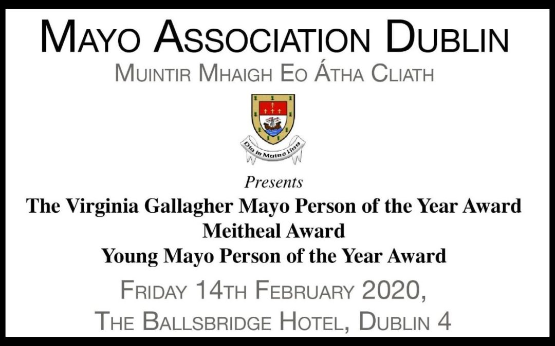 MAYO ANNUAL AWARDS 2020 IS JUST THE TICKET!