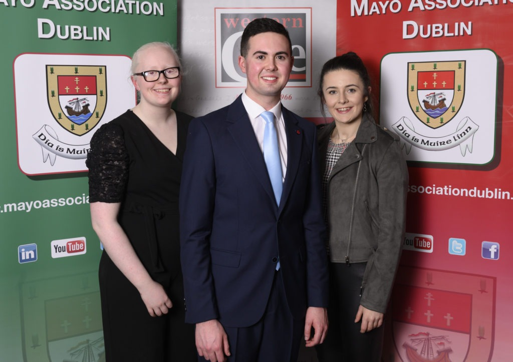 Our 'Young Mayo Person of the Year' Award Winners Sara McFadden (2019); Cathal Gavin (2020) and Michaela Walsh (2018).